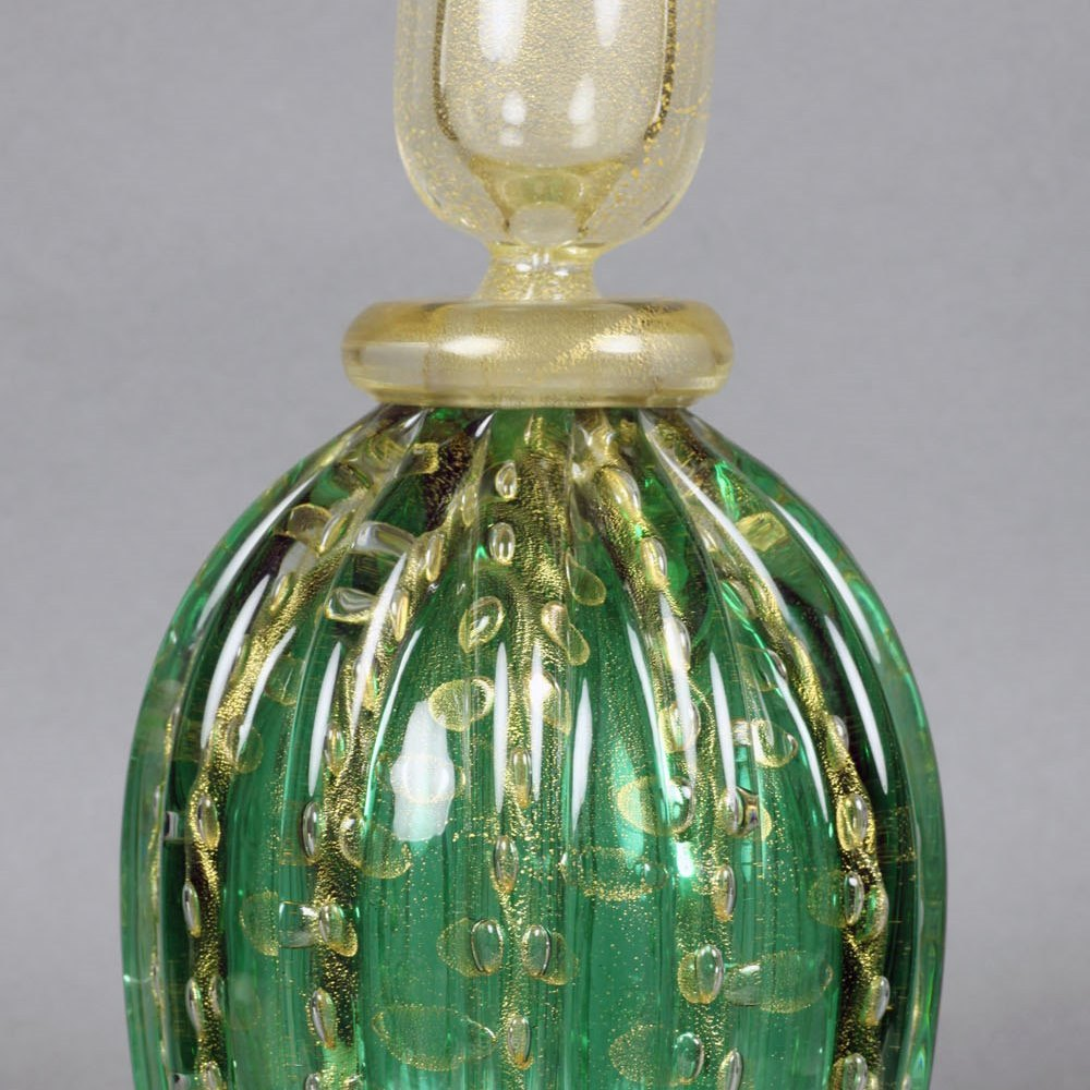 MURANO GLASS LIDDED BOTTLE Latter half of 20th Century