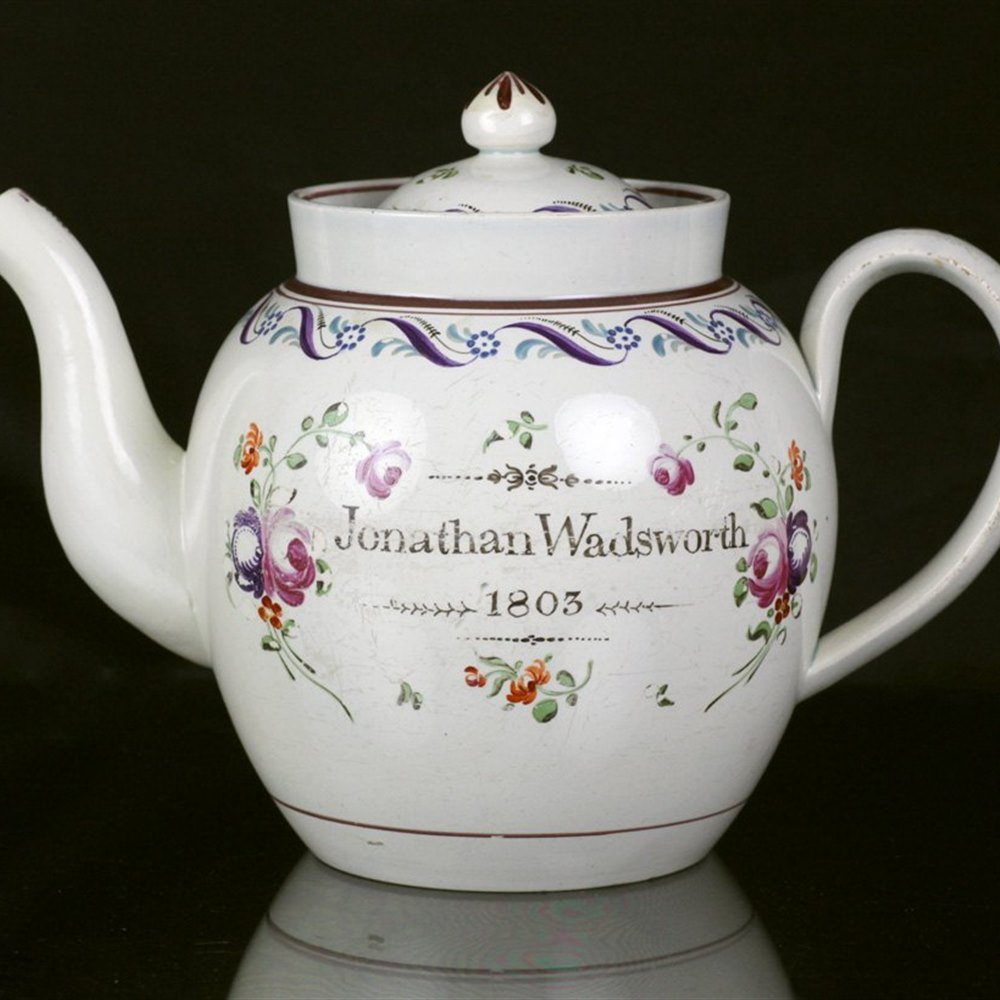 PEARLWARE TEAPOT Dated 1803