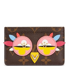 Louis Vuitton Brown Monogram Coated Canvas Multicolour Owl Card Holder