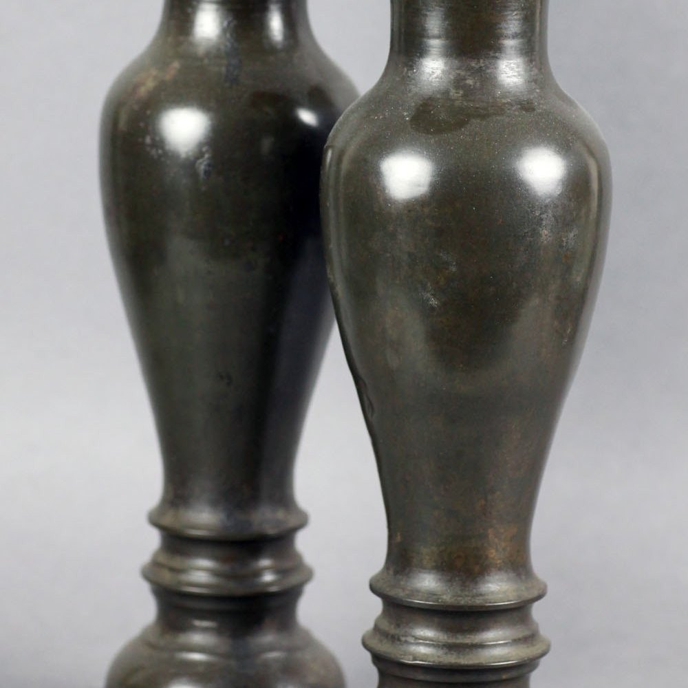 CHINESE BRONZE ALTAR VASES 19th century or earlier
