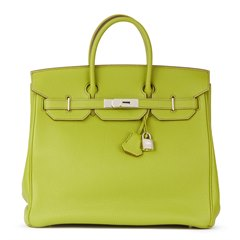 Hermès Vert Anis Togo Leather Birkin 32cm HAC