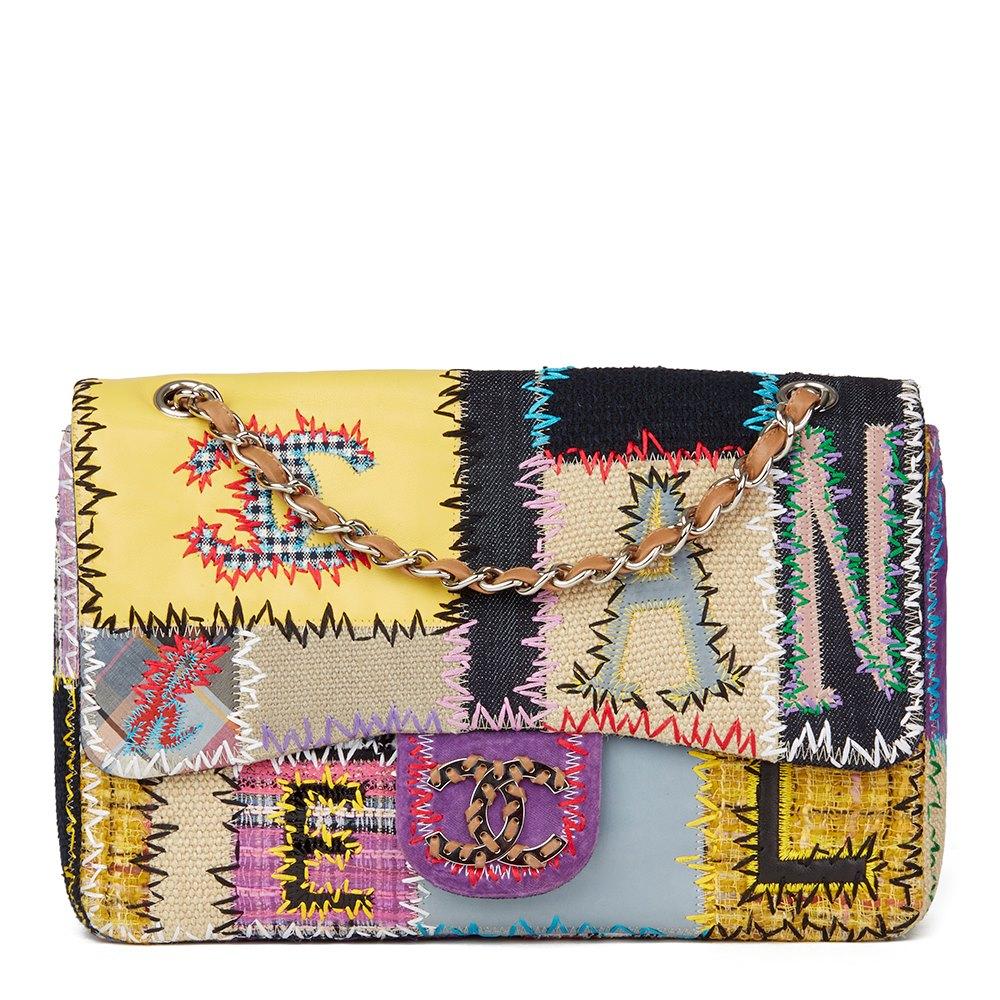 Chanel Multicolour Patchwork Multi-Fabric Jumbo Flap Bag 0728b1a2bb339
