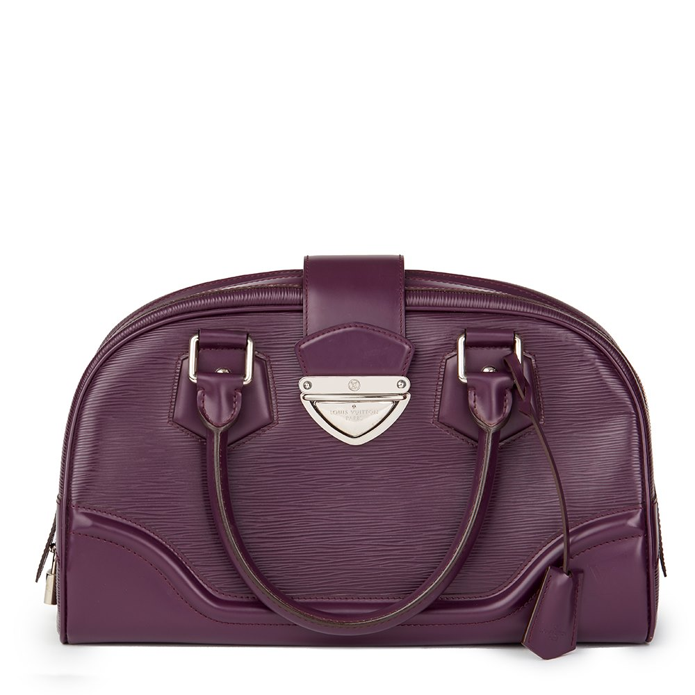 4aad12bd371c Louis Vuitton Bowling Montaigne Gm 2009 Hb1638 Second Hand Handbags. Louis  Vuitton Figue Purple Epi Leather Alma Gm Satchel Bag ...