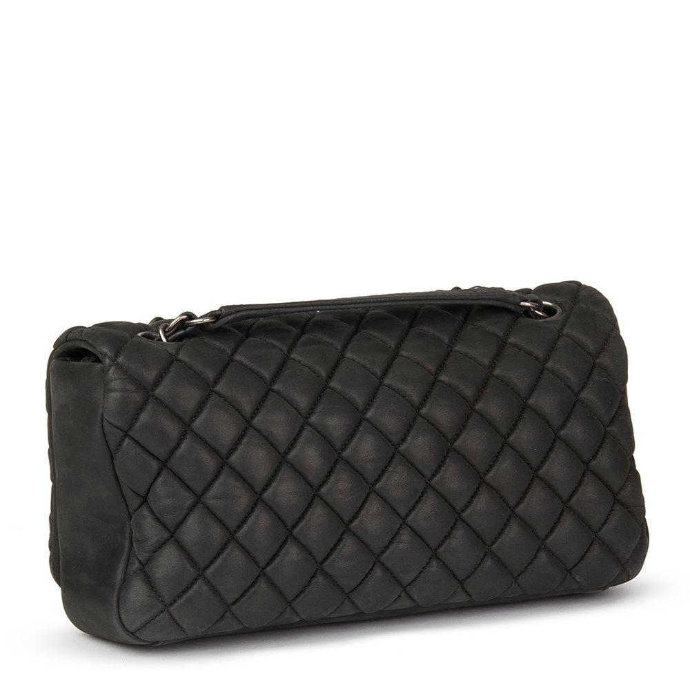 cabaa85c3c60 Chanel Dark Grey Bubble Quilted Velvet Calfskin Small Bubble Flap Bag