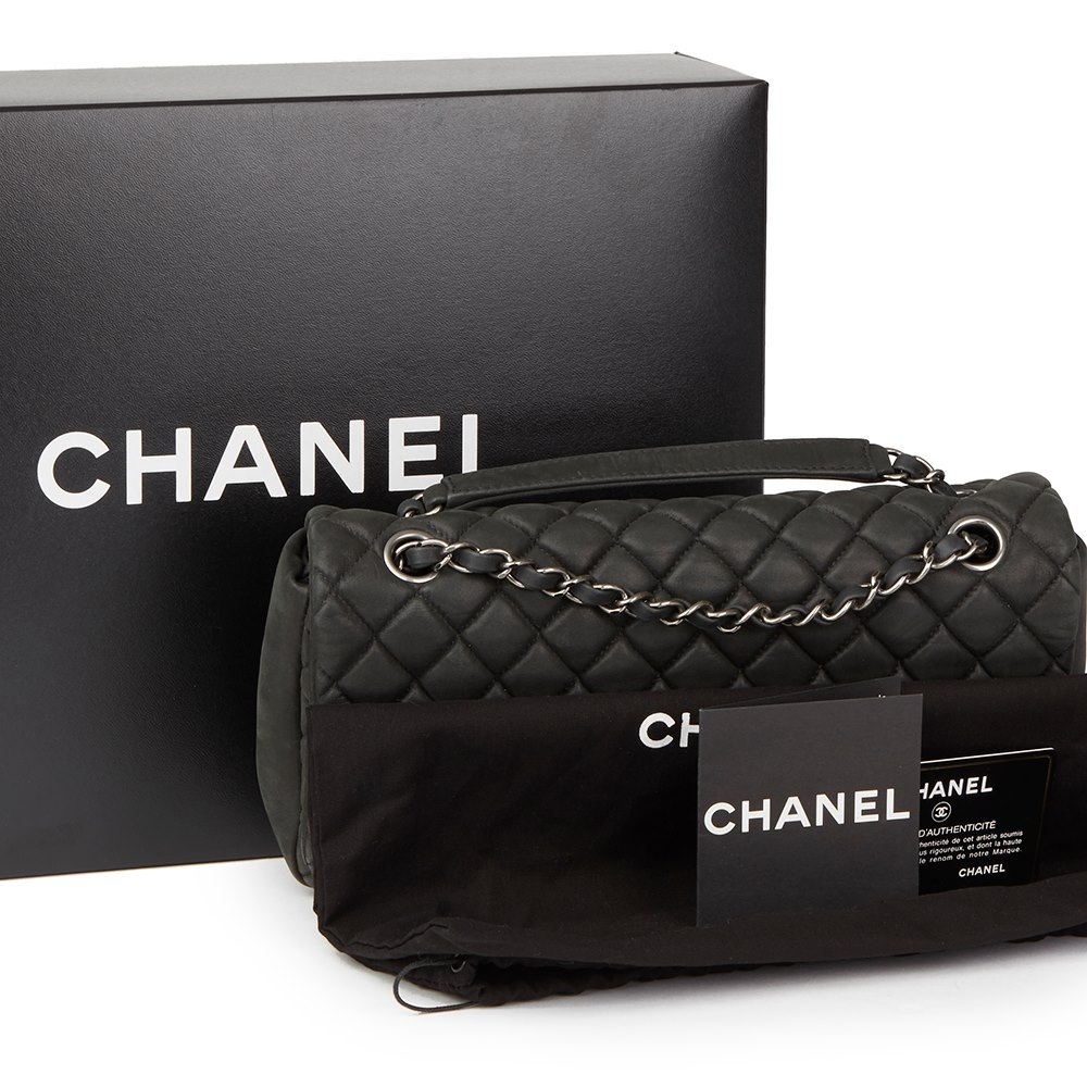 69f15ea5f7f0 Chanel Dark Grey Bubble Quilted Velvet Calfskin Small Bubble Flap Bag