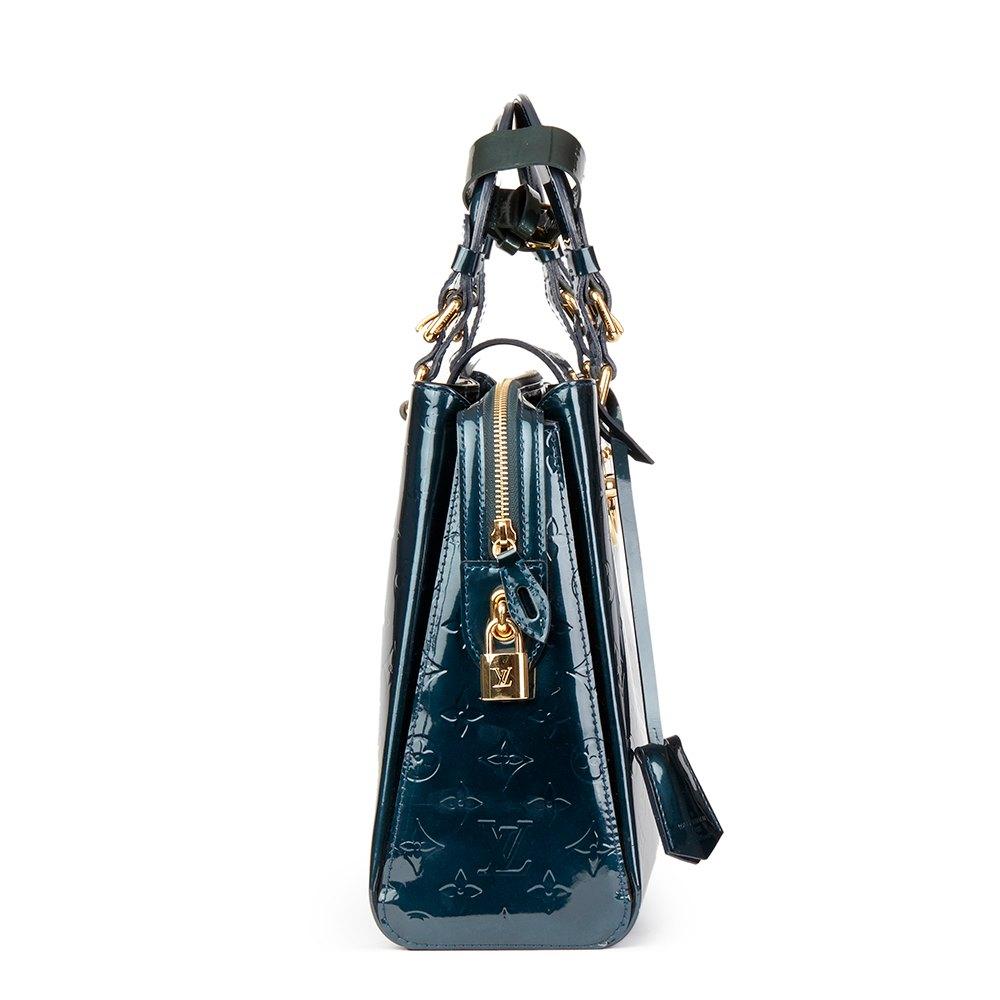 ff5519fba92 Louis Vuitton Bleu Nuit Monogram Vernis Leather Melrose Avenue