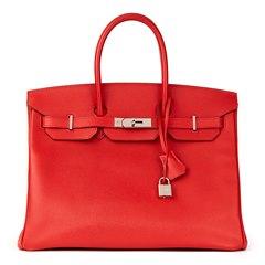 Hermès Rouge Casaque Epsom Leather Birkin 35cm