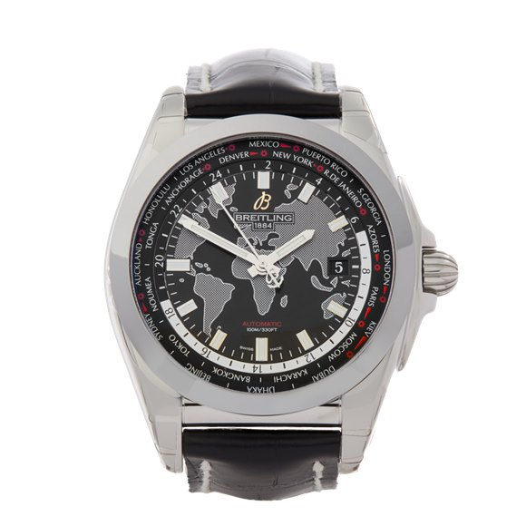 Breitling Galactic Unitime Sleekt Stainless Steel - WB3510U4/BD94
