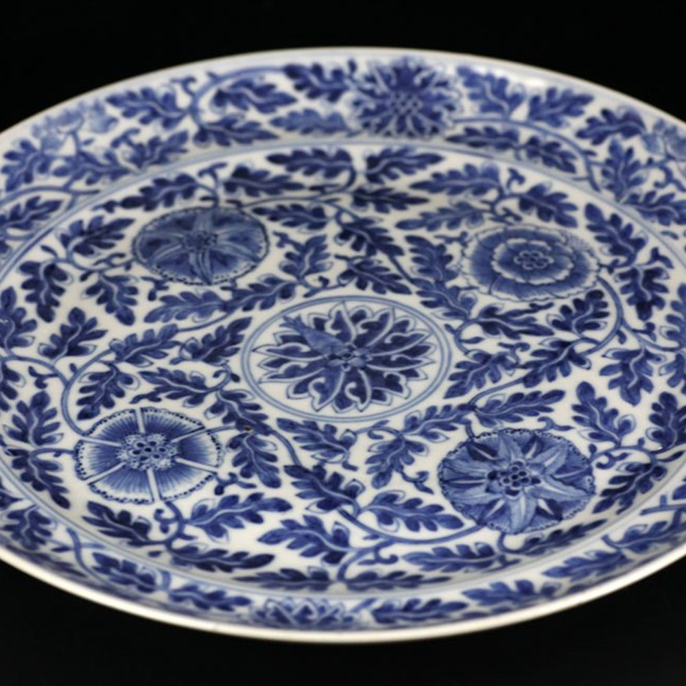 Exceptional Antique Chinese Porcelain Kangxi Design Plate 18/19th C.