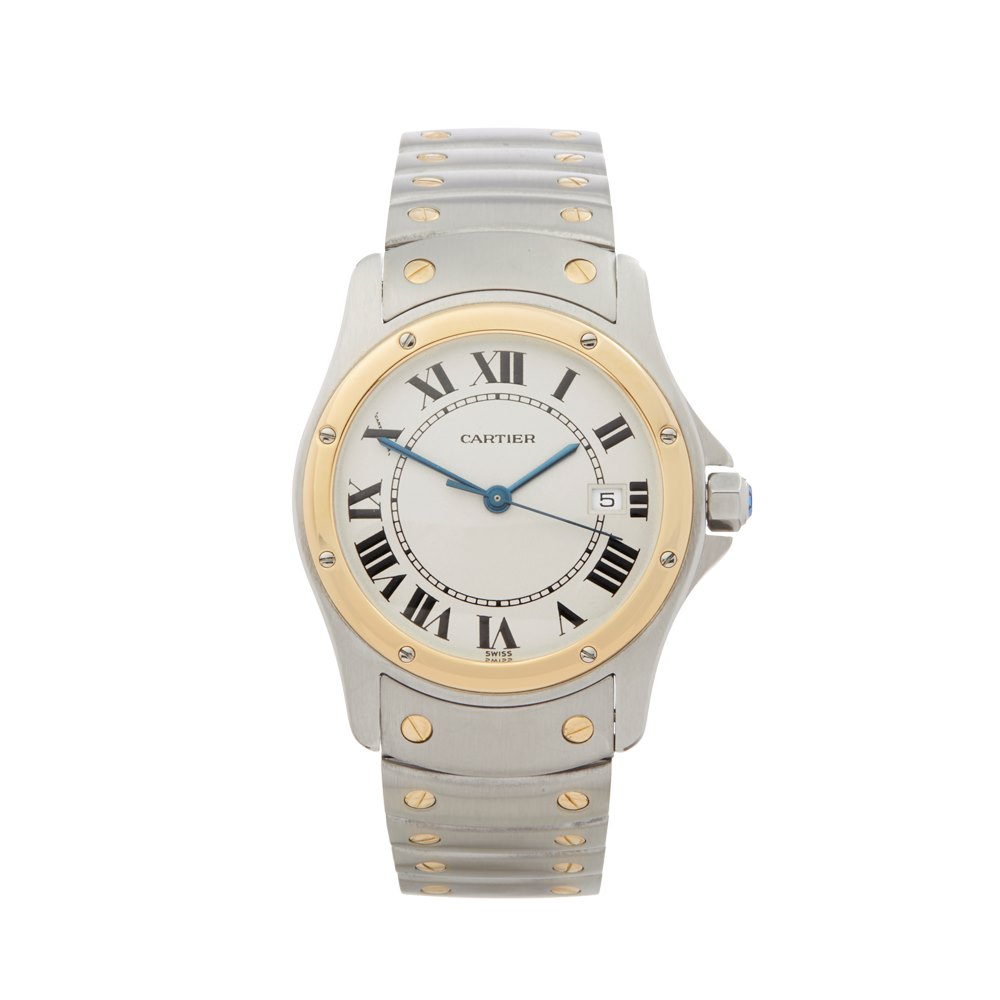 71b0738dd29f Cartier Santos Ronde Stainless Steel   18K Yellow Gold 1551