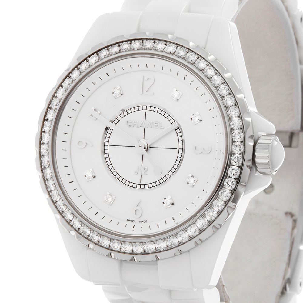 Chanel J12 Diamond Ceramic H3110