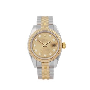 Rolex DateJust 26 Diamond Stainless Steel & Yellow Gold - 179173