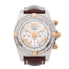 Breitling Chronomat Diamond Stainless Steel & 18K Rose Gold - IB011053/A693
