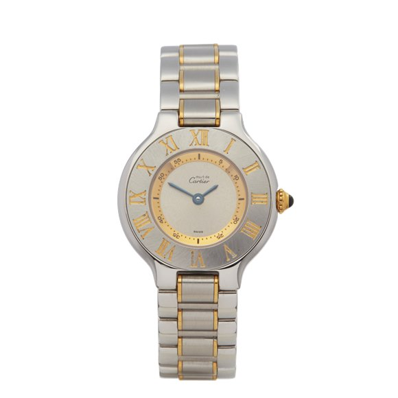 Cartier Must de 21 Stainless Steel & Yellow Gold Plated - 1340 or W10073R6