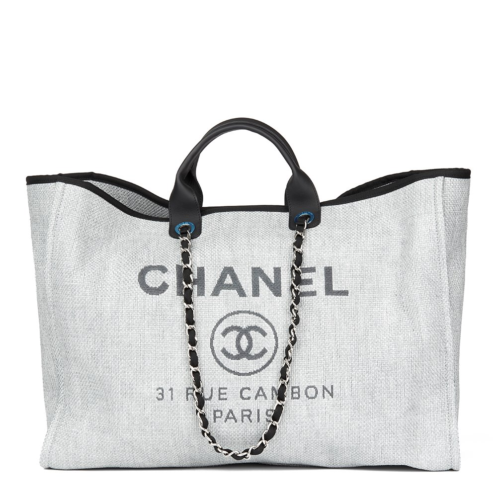 2ff2a658ee2b Chanel Extra Large Deauville Tote 2017 HB1672 | Second Hand Handbags