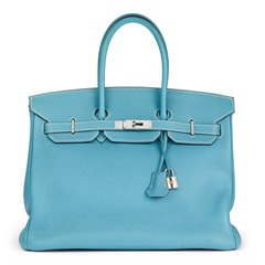 Hermès Blue Jean Togo Leather Birkin 35cm