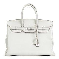 Hermès Gris Perle Fjord Leather Birkin 35cm
