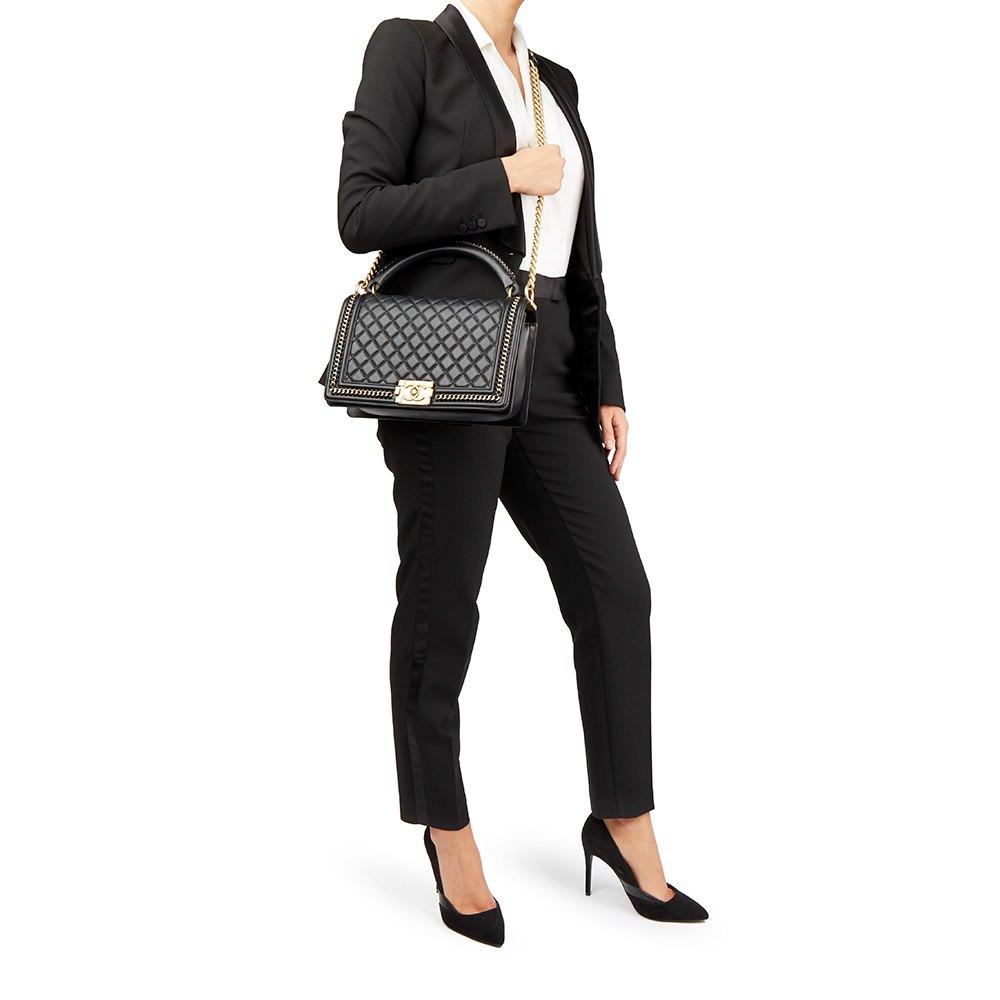 3edb5e3c0764 Chanel New Medium Le Boy with Handle 2017 HB1694 | Second Hand Handbags