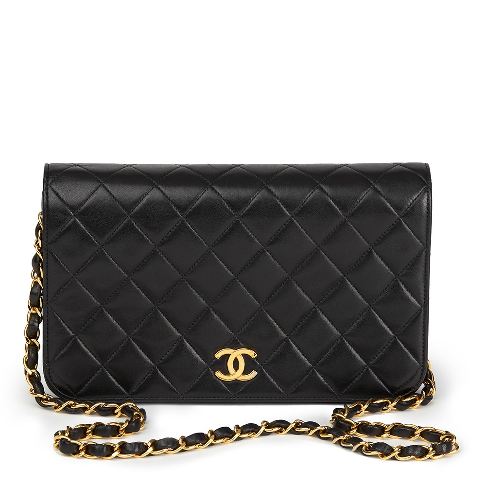 712940319d21 Chanel Small Clic Single Full Flap Bag 1996 Hb1709 Second Hand. Chanel  Black Quilted Lambskin Vine ...