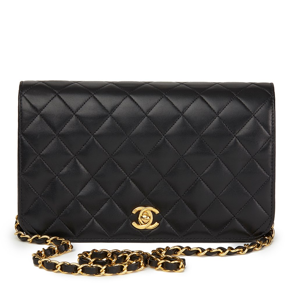 520910036b3d60 Chanel Black Quilted Lambskin Vintage Small Classic Single Full Flap Bag