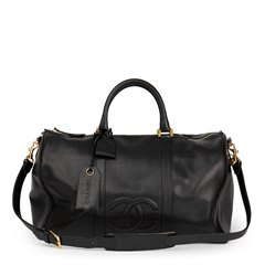 Chanel Black Caviar Leather Timeless Boston 50