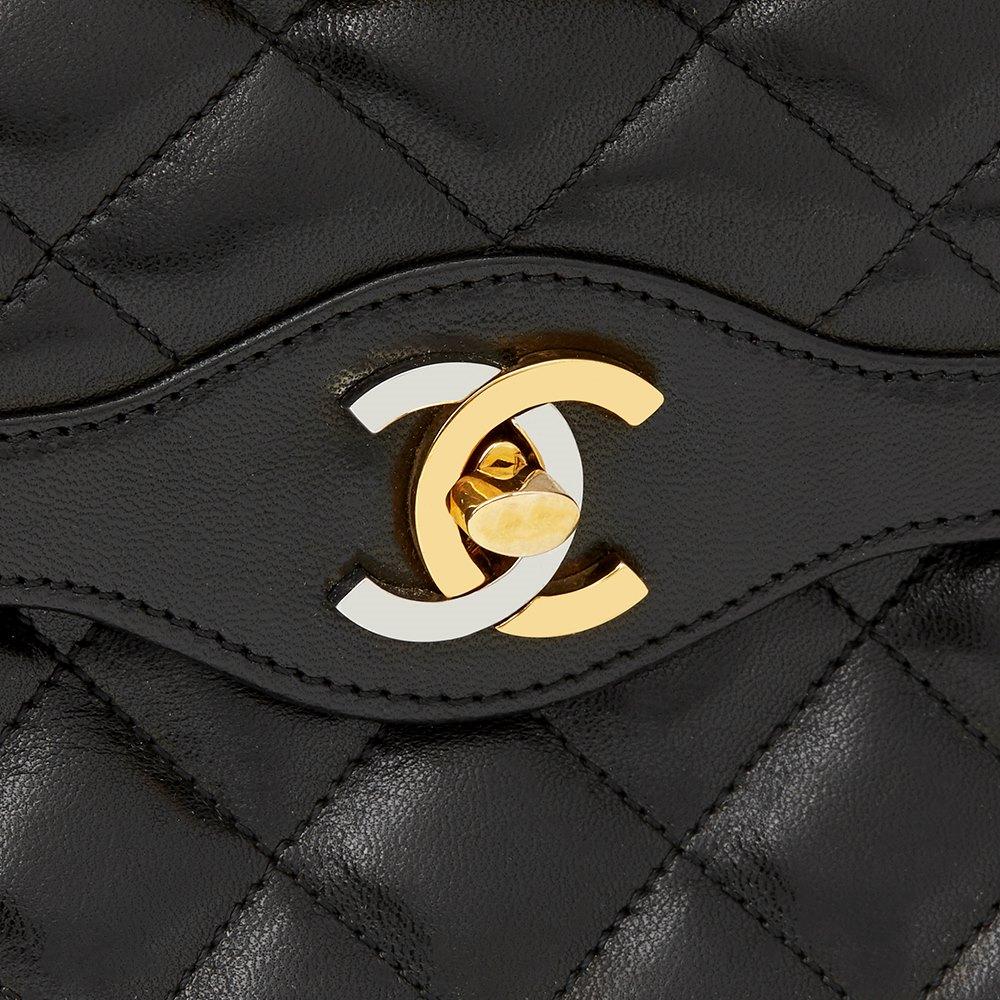 826913e7d01e Chanel Black Quilted Lambskin Vintage Medium Paris Limited Double Flap Bag