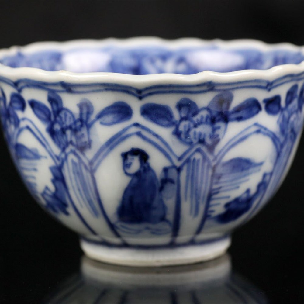 KANGXI TEABOWL & SAUCER Kangxi dating from around 1700