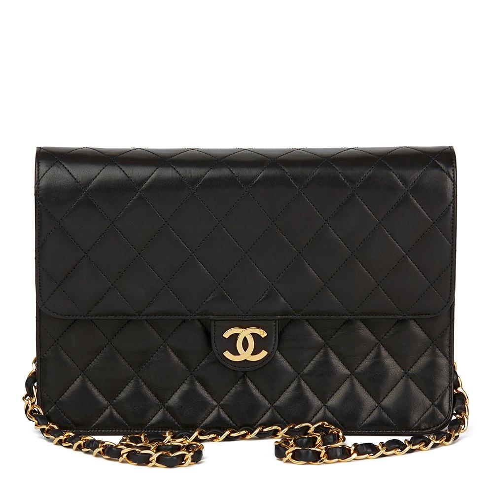 c0b452fdec994e Chanel Medium Classic Single Flap Bag 1994 HB1722   Second Hand Handbags