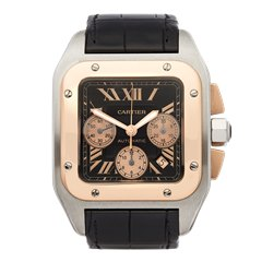 Cartier Santos 100 XL Stainless Steel & 18K Rose Gold - 2740 or W20090X8
