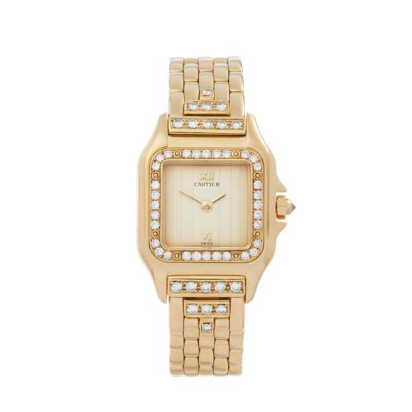 Cartier Panthère Diamond 18k Yellow Gold - WF3159HP or 1280