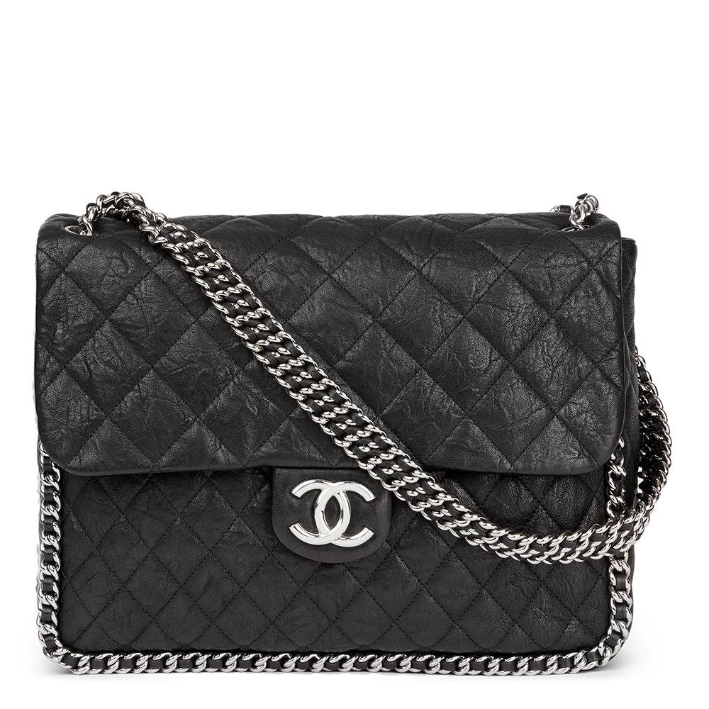 c46047d0c1a77f Chanel Chain Around Maxi Flap Bag 2014 HB1730 | Second Hand Handbags