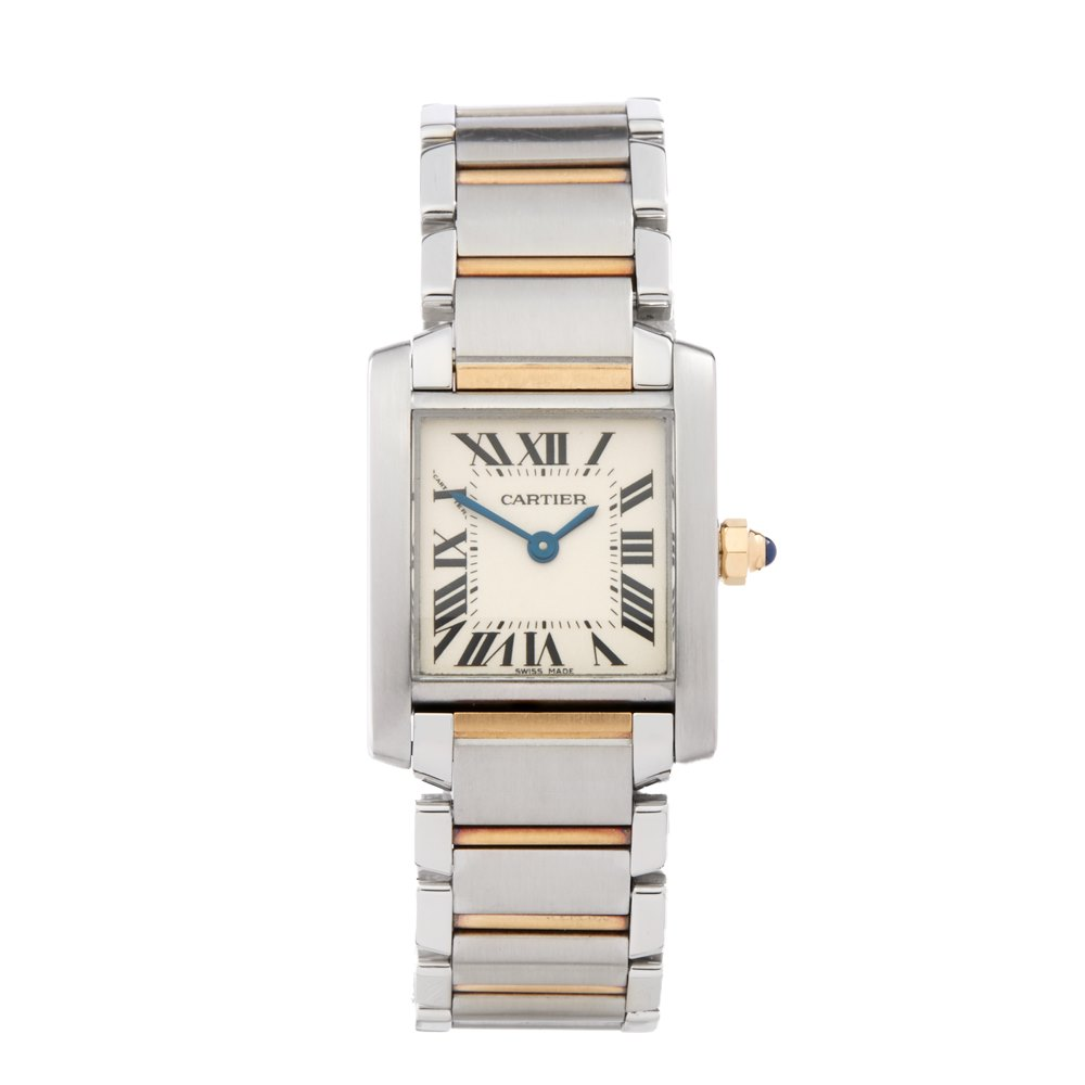 f3ec9d944e348 Cartier Tank Francaise Stainless Steel & 18K Yellow Gold 2384 or W51007Q4