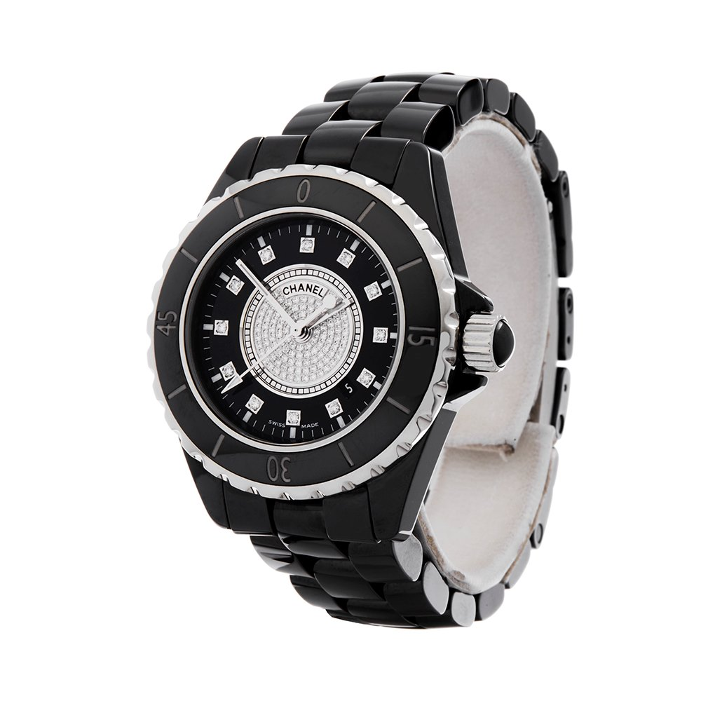 Chanel J12 Diamond Black Ceramic H2122