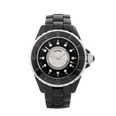 Chanel J12 Diamond Black Ceramic - H2122