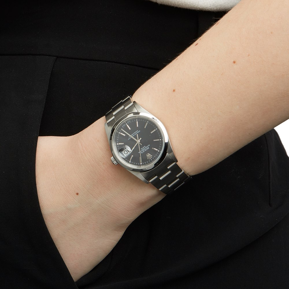 Rolex Oyster Perpetual Date 34 Stainless Steel 15200