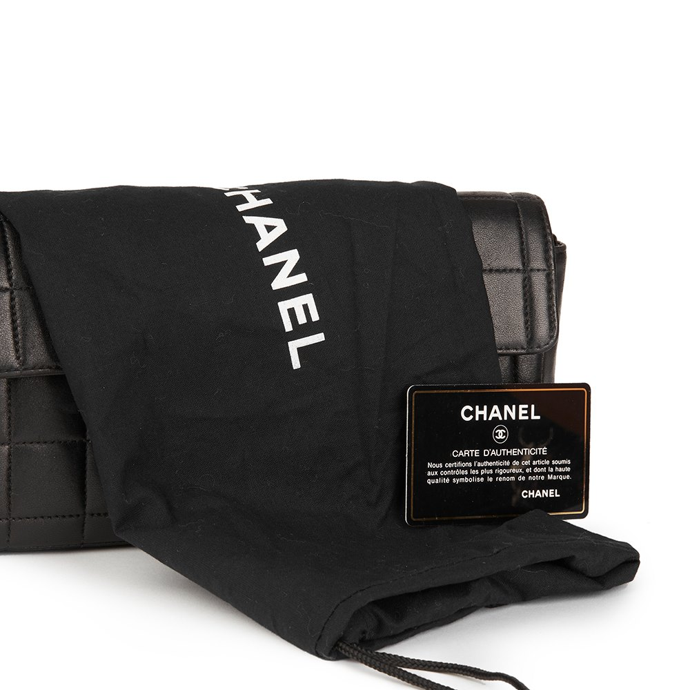 786242c01ba5 Chanel East West Chocolate Bar Flap Bag 2003 HB1738   Second Hand ...
