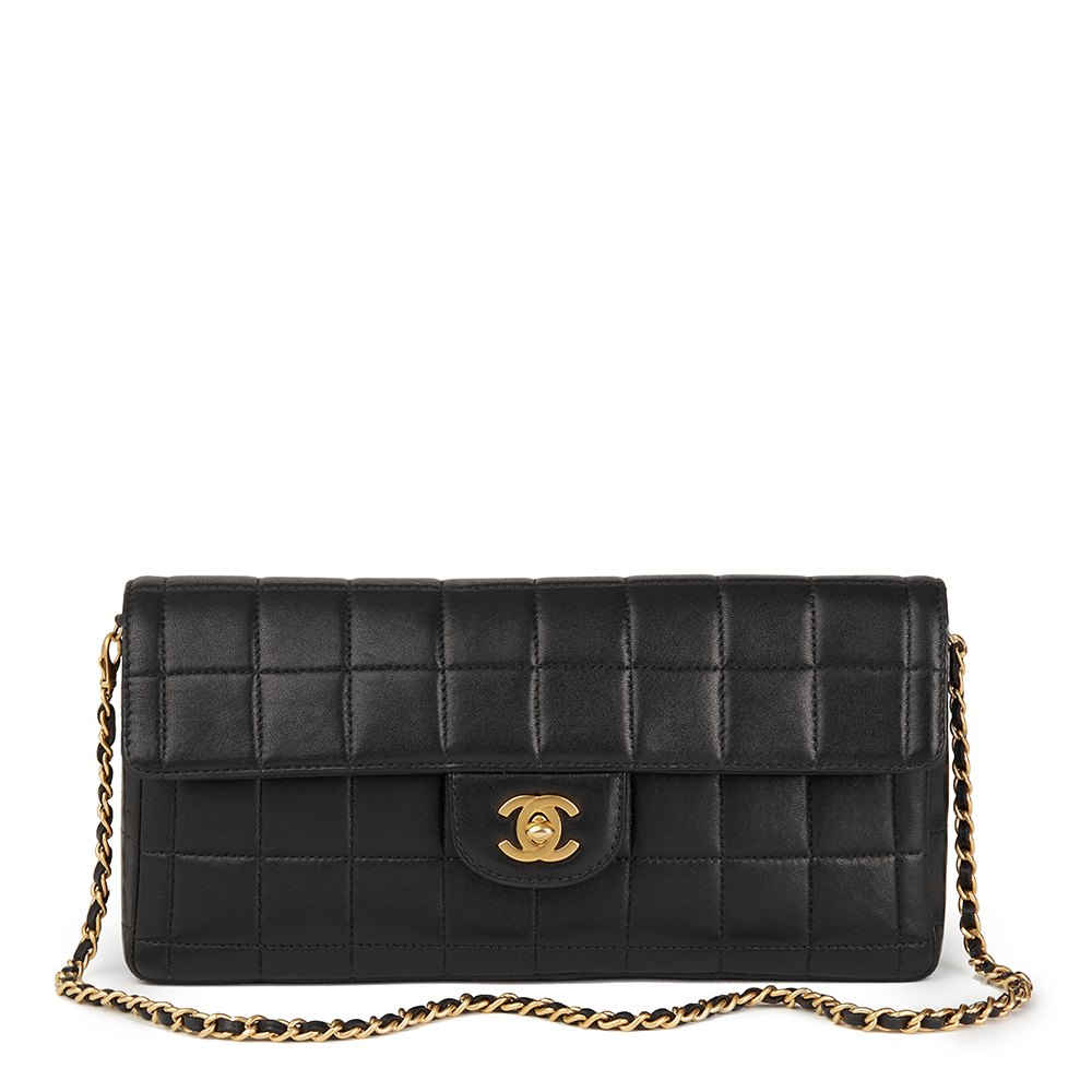 32c5a0a645b2 Chanel East West Chocolate Bar Flap Bag 2003 HB1738 | Second Hand ...
