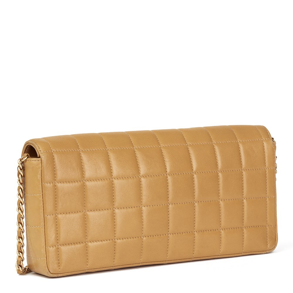d88609484464 Chanel East West Chocolate Bar Flap Bag 2003 HB1739   Second Hand ...