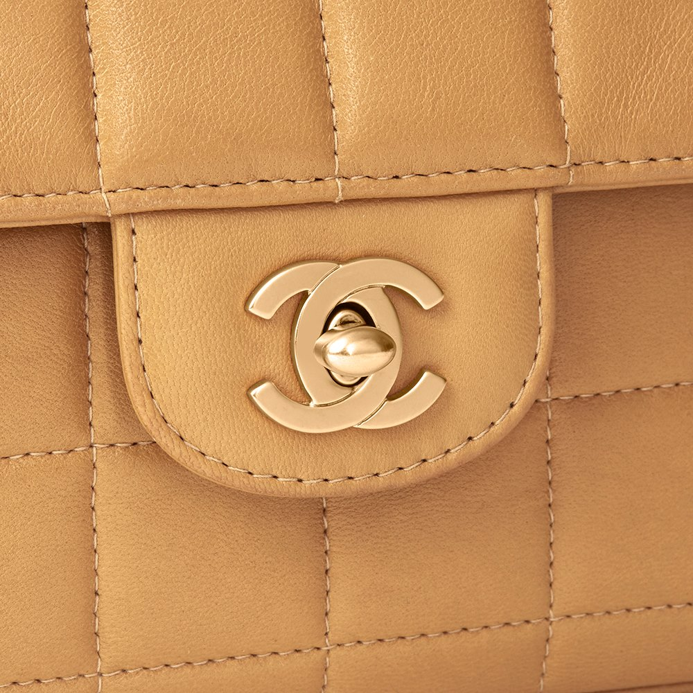a4c184688f5f Chanel East West Chocolate Bar Flap Bag 2003 HB1739 | Second Hand ...