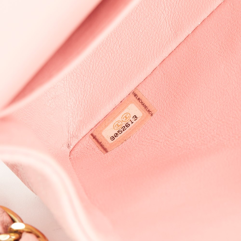 Chanel Pink Quilted Caviar Leather Medium Classic Double Flap Bag