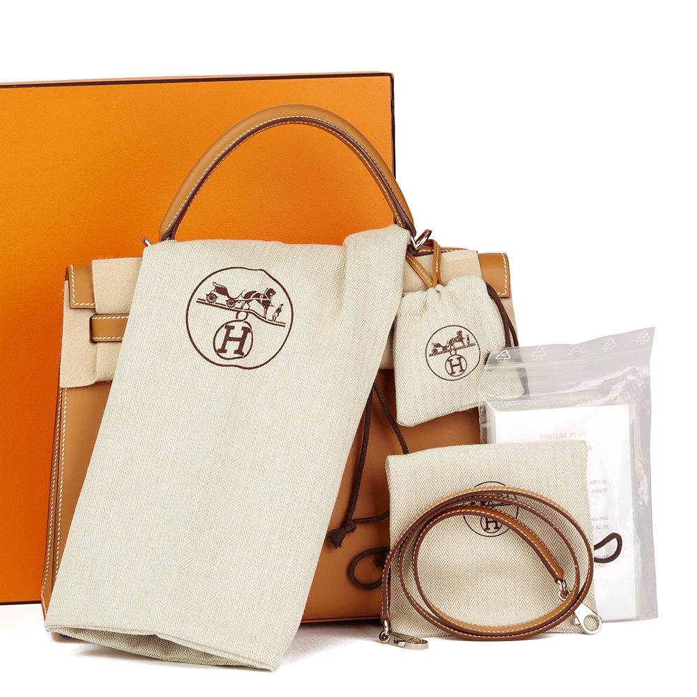 724e2161a4b0 Hermès Natural Barenia Leather Kelly 32cm Sellier