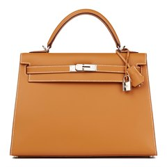 Hermès Natural Barenia Leather Kelly 32cm Sellier
