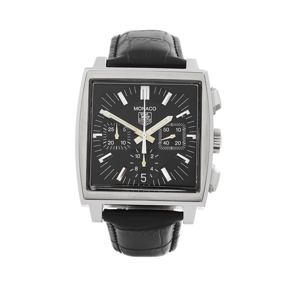 Tag Heuer Monaco Stainless Steel Watch Cw2111 0 W4805 Ebay Space Leather