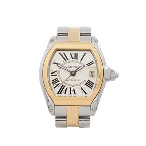 Cartier Roadster 18k Stainless Steel & Yellow Gold - 2510 or W62031Y4