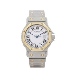 Cartier Santos Ronde Stainless Steel & 18K Yellow Gold - 10292