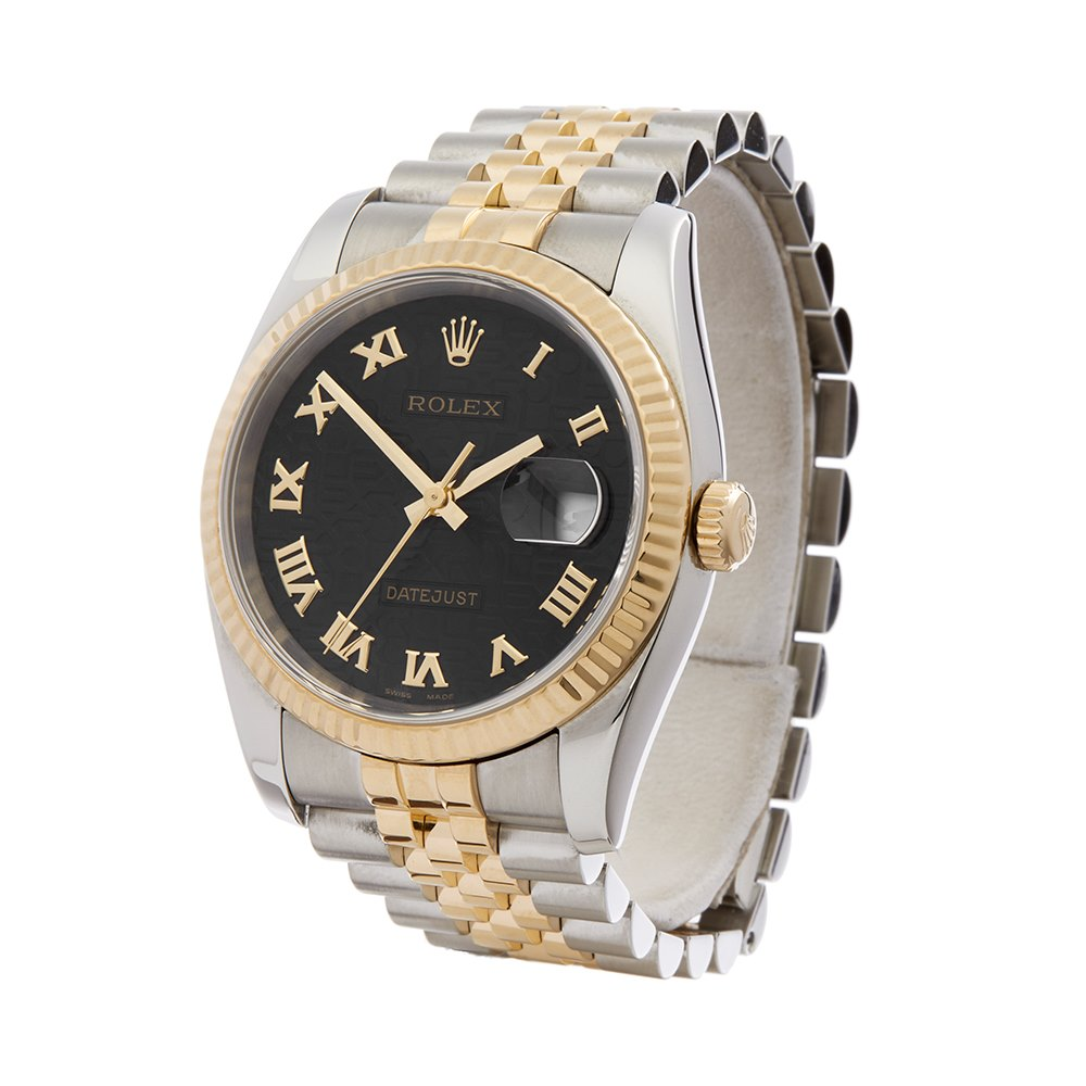 7d826bf186984 Rolex Datejust 36 Stainless Steel   18K Yellow Gold 116233