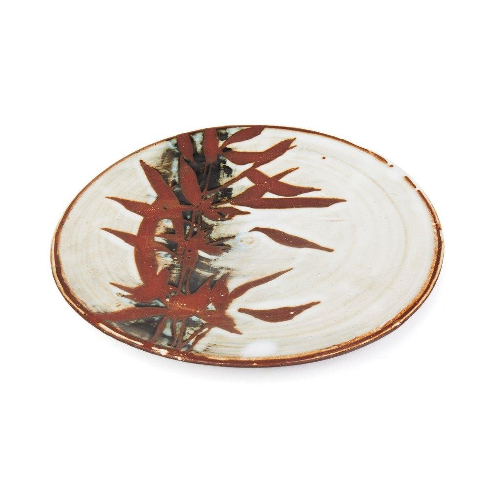 Japanese Shoji Hamada Inspired Bamboo Studio Plate 20th Century
