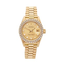 Rolex DateJust 26 Diamond 18k Yellow Gold - 69138