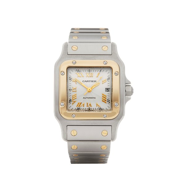 Cartier Santos Galbee Stainless Steel & Yellow Gold - W20041C4