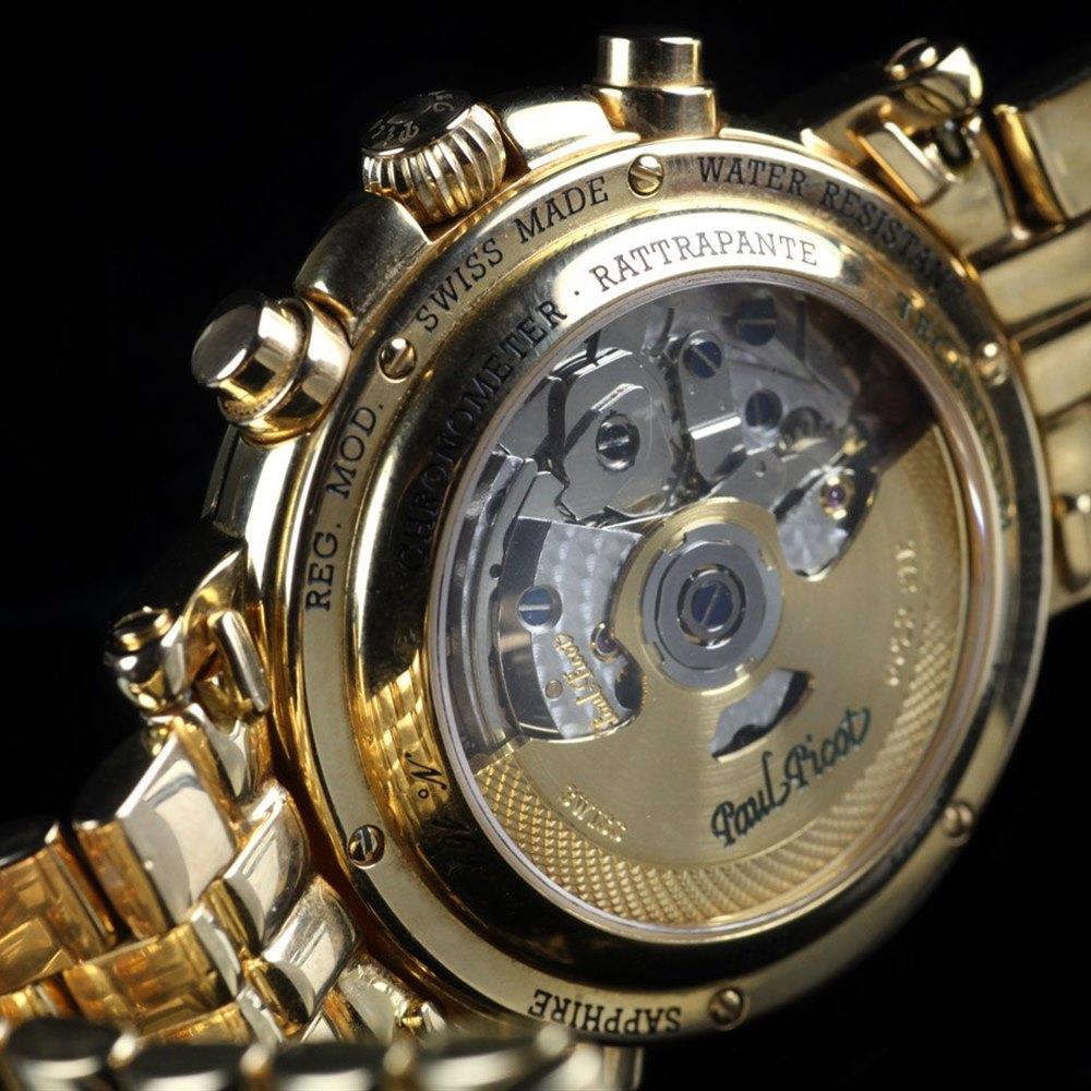 Paul Picot Technicum Rattrapante 18k Rose Gold P7018G82.772